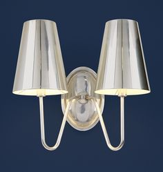 Berkshire Double Sconce with Metal Shades | Wall Lighting | Rejuvenation