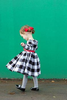 Black and White Plaid Holiday Dress // Delia Creates + Black Friday sale!!!