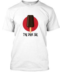 The Dark Side: Ice Cream White T-Shirt Front