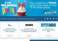 Valpak Sweepstakes: Win a Party Prize Pack ($5,000)