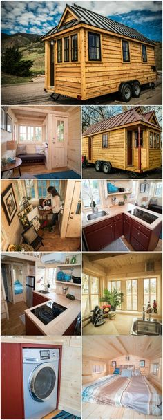 Rustic Elegance by Tumble Weed Tiny Houses Featuring an Unique Hidden Surprise - The Cypress is a beautiful and fully functional tiny house by Tumble Weed Houses. You just won't believe the beauty of this natural wood home. It features bay windows, a corner porch, hipped roof, and there's even a little surprise nook that you can use for reading or whatever you want.