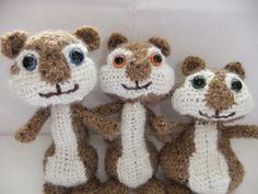 Alvin and the Chipmunks Crochet Pattern (III) by Siona Karen, via Flickr
