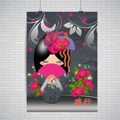 Kokeshi Doll, Journey, Journey Kokeshi In Pinks : Premium Quality Poster / Print A2 / A3 (no frame, no hangers)  ★★★★★Picture of wall and hangers are for illustration purposes only, you only get the poster rolled in an art tube.★★★★★  ★★★★★Please measure, A2 is big★★★  Sizes: ★ A2 420 x 594 mm 16.5 x 23.4 in ★ A3 297 x 420 mm 11.7 x 16.5 in  ***This item is NOT framed, it is a poster****  Finish: Satin (semi glossy so that your posters do not glare)  About our paper Quality ⁑ Micro-...