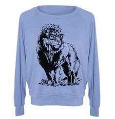 Womens Sweatshirt  Lion Professor TriBlend Raglan by lastearth, $28.00