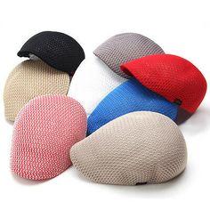 New Mesh Men's Gatsby Cabbie Ivy Driving Flat Cap Irish Hats Newsboy Golf Beret Irish Hat, Gatsby Hat, Flat Hats, News Boy Hat, Beret, Ivy, Coin Purse, Mesh, Flats