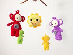 Baby Crib mobile Baby mobile Amigurumi Eh-Oh by IvoryTreeHouse