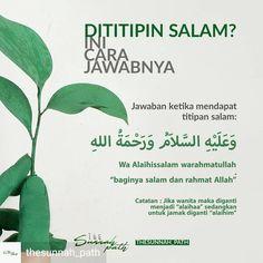 Jika dititipin salam #titipsalam Hijrah Islam, Islam Marriage, Doa Islam, Hadith Quotes, Muslim Quotes, Quran Quotes, Hijab Quotes, Reminder Quotes, Self Reminder