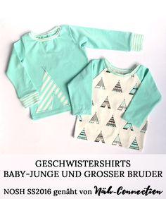 Geschwistershirts für Babyjungen und großen Bruder - NOSH SS2016 genäht von Näh-Connection