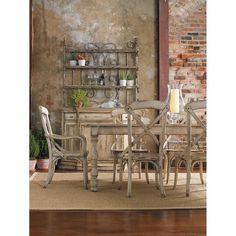 Hooker Furniture, Wakefield, Dining Table, Light Wood – Benjamin Rugs & Furniture