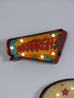 arrrrrgh kids comic light up letters ready for that boys marvel room for christmas