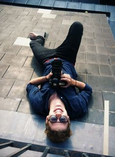 Jack Harries. We photographers will do anything to get the shot. :)