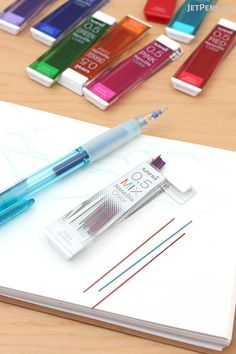 Attention artists and students: Uni NanoDia Color Leads are now available in 0.5 mm! They come in a rainbow of colors, plus a variety pack that contains one of each.