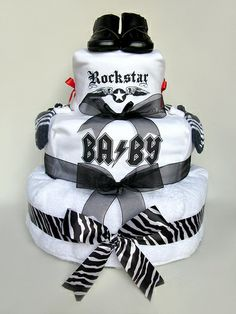 Rockstar Baby Cake by Small Tokenz Gifts, via Flickr
