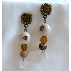 Exquisite Brazilian Paxiubao and Acai seeds and Czech Glass beads Earrings via LauraBijoux. Click on the image to see more!