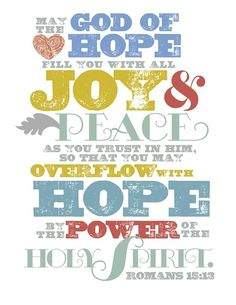 romans 15 13 Sunday Joy