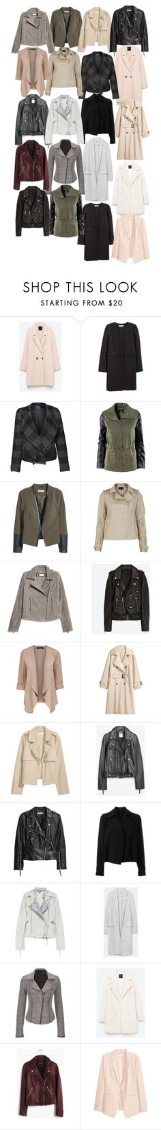 """""""Rebekah inspired jackets/coats"""" by tvdstyleblog ❤ liked on Polyvore featuring H&M, Devoted, River Island, MANGO, Jakke, Zara, Theory, IRO, maurices and Belgique"""