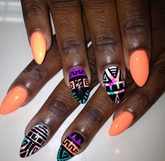 Pretty orange w/ tribal design