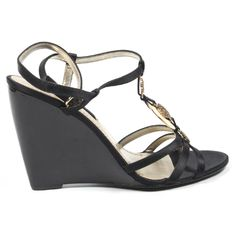 Nine West Womens Ankle Strap Wedge Sandal Nwjuvelie Black Ankle Strap Wedges, Ankle Straps, Wedge Sandals, Wedge Shoes, Nine West, Composition, Wedges Outfit, Partner, Womens Fashion