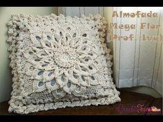 Almofada Mega Flor - Versão Destras - Professora Ivy (Crochê Tricô) - YouTube