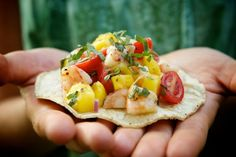 Roasted Shrimp and Mango Salsa from Organic Spark