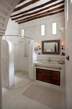 Love this cob bathroom