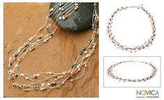Pearl strand necklace, 'Sweet Crocus'. Shop from #UNICEFMarket and help save the lives of children around the world.