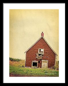 Forsaken Dreams by Edward M. Fielding features an old abandoned and sinking beach cottage in North Rustico, Prince Edward Island Canada.  The building still stands year after year as a modern ruin.