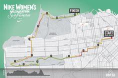 Nike Women's Half Marathon SF 2014 Course Map