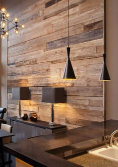 Love the Reclaimed Wood Feature Wall   MADERA - Fine Decorative Furnishings #LGLimitlessDesign & #Contest