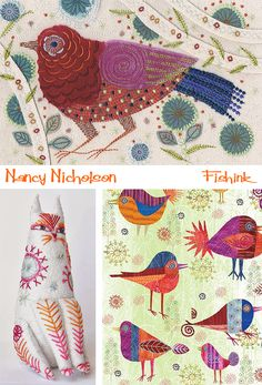For a while now I've admired the work ofNancy Nicholson.Shehas established a reputation for herwork in textiles, whilst more recently hasbeen designing in paper and card. Herrecent rang…