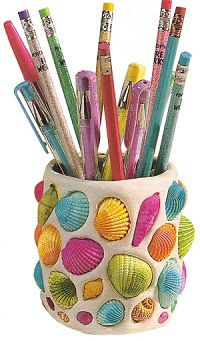 Seashell pencil holder | Sheknows.com