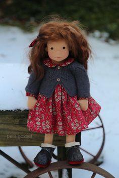 Painted Freckles, White Linen Dresses, Waldorf Dolls, Girl Falling, Baby Alpaca, Summer Girls, Needle Felting, Art Dolls, Hand Knitting