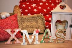 Letras de madera XMAS de 100% made with love #Xmas #ChristmasDays #Christmas #decoracionNavidena #adornos #navidad #scrap #srapbooking #letras #100por100madeWithLove #craft #handmade #MerryChristmas @100% Made With Love