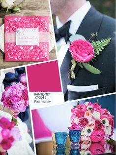 Розовый PANTONE 17-2034 Pink Yarrow wedding color 2017