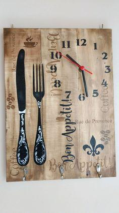 Clock Painting, Clock Art, Diy Clock, Painting On Wood, Wood Clocks, Antique Clocks, Clock Face Printable, Ceramic Sculpture Figurative, Kitchen Wall Clocks