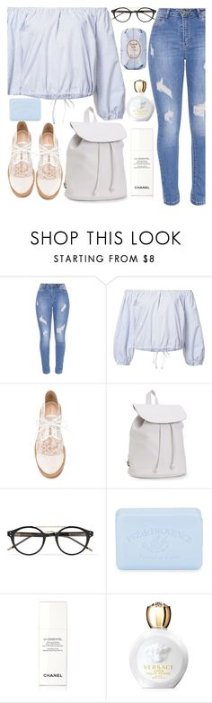 """UC."" by valemx ❤ liked on Polyvore featuring Sea, New York, Nicholas Kirkwood, Aéropostale, Bottega Veneta, Pré de Provence, Chanel, Versace and Fresh"