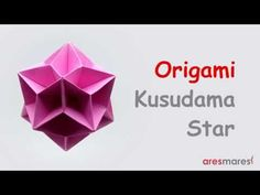 Origami Kusudama Star (intermediate - modular) - YouTube