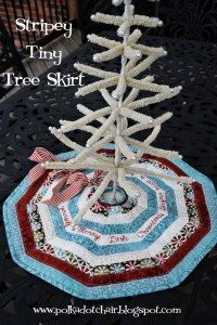 Stripey Skinny Seasonal Table Runner & Stripey Tiny Tree Skirt « Moda Bake Shop
