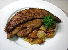 Creamed Sweet Onion and Bacon with Sautéed Calves Liver on MyRecipeMagic.com