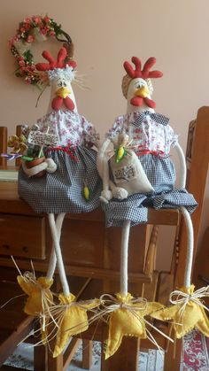 Crafts To Sell, Diy And Crafts, Crafts For Kids, Arts And Crafts, Chicken Pattern, Chicken Crafts, Chickens And Roosters, Fabric Birds, Coq
