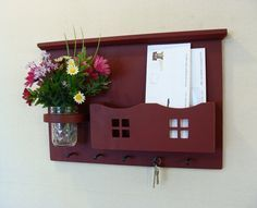 Image result for key holder with mail slot