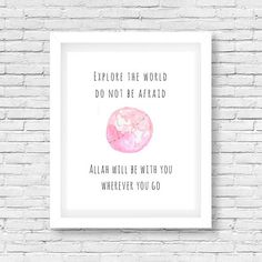 Nursery Wall Art, Nursery Ideas, Nursery Decor, Islamic Wall Art, Gifts For New Parents, Simple Life Hacks, Islam Quran, Kids Decor, Islamic Quotes