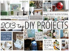 More than 10 DIY projects and ideas for your home