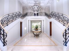 Gated Private Mansion in Tiburon, California - Double Staircase