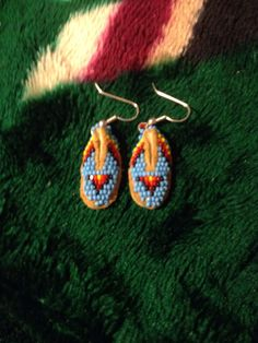 Native American Moccasin Ornament Leather Beadwork White