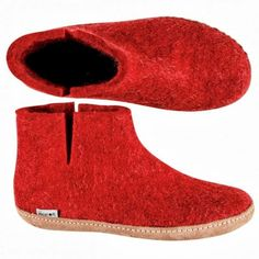 """Nanny Glerup describes her boots, shoes and slippers as 'beautiful, natural and warm' - and they are also practical, super soft, beautiful..."""