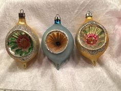 Vintage Christmas Ornaments, Christmas Tree Ornaments, Christmas Time, Christmas Decorations, Xmas, Holiday Decor, Number 3, Bright, Objects