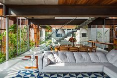 Casa Mirante by Brazilian firm FGMF Arquitetos is a concrete and patinated steel structure situated in Aldeia da Serra, close to São Paulo