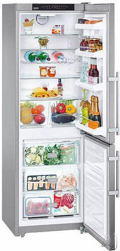 "Liebherr CS1200 11.4 cu. ft. Counter-Depth Bottom-Freezer Refrigerator with Adjustable Glass Shelves, GlassLine Storage Racks, LED Lighting and LED Temperature Display: Right Hinge Door Swing 24"" x 25""(d) $1999"
