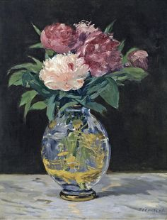 colourthysoul: Edouard Manet - Bouquet de pivoines